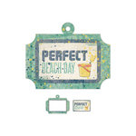 We R Memory Keepers - Down the Boardwalk Collection - Embossed Tags - Mini Frames - Sand Pail
