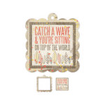 We R Memory Keepers - Down the Boardwalk Collection - Embossed Tags - Mini Frames - Catch a Wave