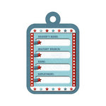 We R Memory Keepers - Red White and Blue Collection - Embossed Tags - ID Tag