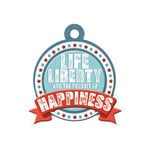 We R Memory Keepers - Red White and Blue Collection - Embossed Tags - Liberty