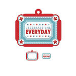 We R Memory Keepers - Red White and Blue Collection - Embossed Tags - Mini Frames - Celebrate Everyday