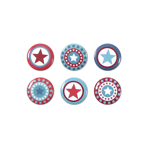 We R Memory Keepers - Red White and Blue Collection - Mini Badges