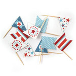 We R Memory Keepers - Red White and Blue Collection - Mini Flags
