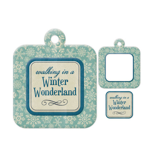 We R Memory Keepers - Embossed Tags - Mini Frames - Wonderland
