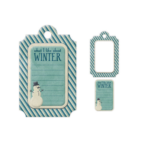 We R Memory Keepers - Embossed Tags - Mini Frames - Winter