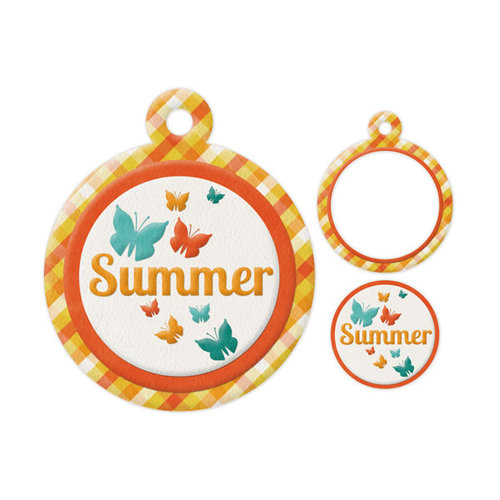 We R Memory Keepers - Embossed Tags - Mini Frames - Summer