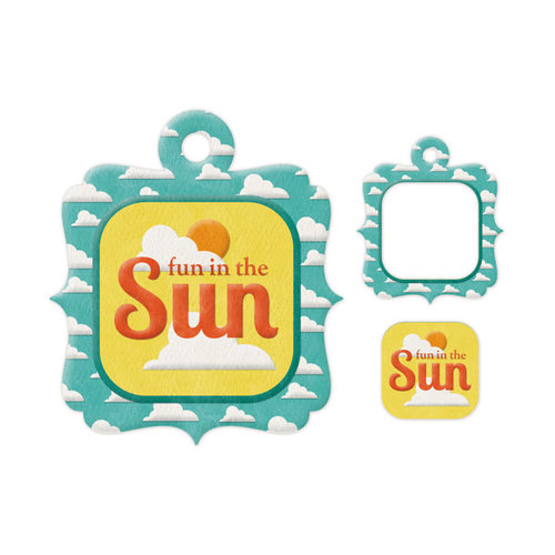 We R Memory Keepers - Embossed Tags - Mini Frames - Sun