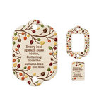 We R Memory Keepers - Embossed Tags - Mini Frames - Leaf