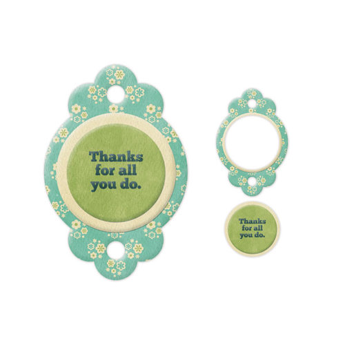 We R Memory Keepers - Embossed Tags - Mini Frames - Thanks