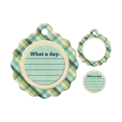 We R Memory Keepers - Embossed Tags - Mini Frames - What A Day