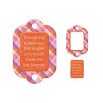 We R Memory Keepers - Embossed Tags - Mini Frames - Laughing