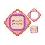 We R Memory Keepers - Embossed Tags - Mini Frames - Get Happy