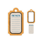 We R Memory Keepers - Embossed Tags - Mini Frames - The Facts