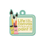 We R Memory Keepers - Love 2 Craft Collection - Embossed Tags - Life is a Canvas