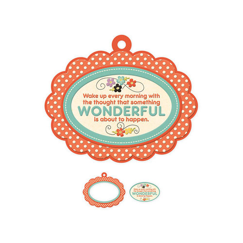 We R Memory Keepers - Love 2 Craft Collection - Embossed Tags - Mini Frames - Wonderful