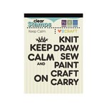 We R Memory Keepers - Love 2 Craft Collection - Clear Acrylic Stamps - Keep Calm