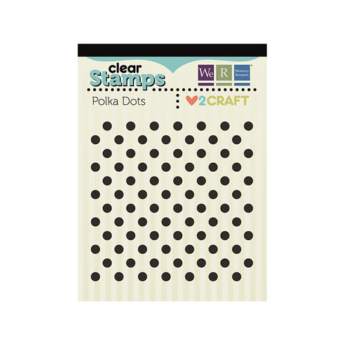 We R Memory Keepers - Love 2 Craft Collection - Clear Acrylic Stamps - Polka Dots