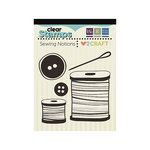 We R Memory Keepers - Love 2 Craft Collection - Clear Acrylic Stamps - Sewing Notions