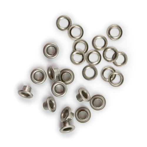 We R Memory Keepers - 3/16 Eyelets and Washers - Nickel