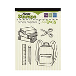 We R Memory Keepers - Hall Pass Collection - Clear Acrylic Stamps - School Supplies