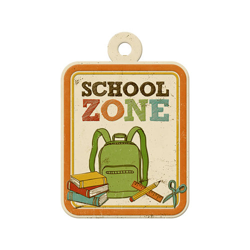 We R Memory Keepers - Hall Pass Collection - Embossed Tags - School Zone