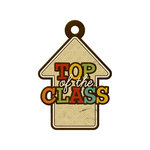 We R Memory Keepers - Hall Pass Collection - Embossed Tags - Top of the Class