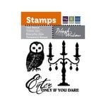 We R Memory Keepers - Black Widow Collection - Halloween - Clear Acrylic Stamps - If You Dare