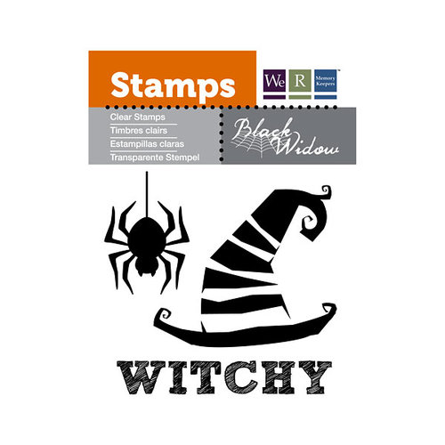 We R Memory Keepers - Black Widow Collection - Halloween - Clear Acrylic Stamps - Witchy