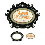 We R Memory Keepers - Black Widow Collection - Halloween - Embossed Tags - Mini Frames - Happy Halloween