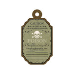 We R Memory Keepers - Black Widow Collection - Halloween - Embossed Tags - Poison