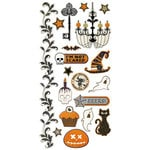 We R Memory Keepers - Black Widow Collection - Halloween - Embossed Cardstock Stickers