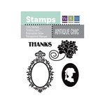 We R Memory Keepers - Antique Chic Collection - Clear Acrylic Stamps - Thanks