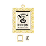 We R Memory Keepers - Antique Chic Collection - Embossed Tags - Mini Frames - Sweet Voice