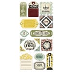 We R Memory Keepers - Antique Chic Collection - Self Adhesive Layered Chipboard - Tags
