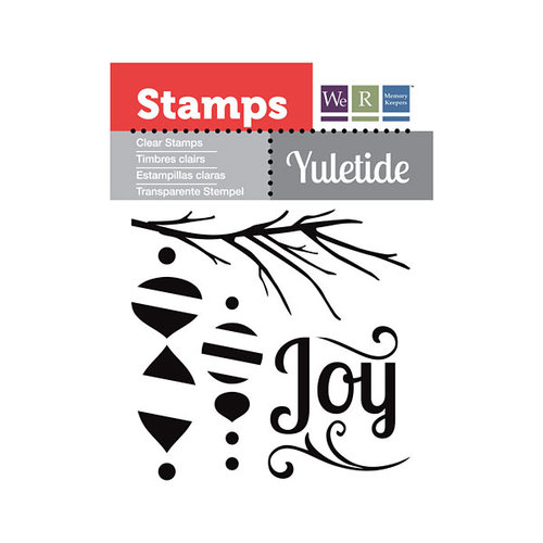 We R Memory Keepers - Yuletide Collection - Christmas - Clear Acrylic Stamps - Joy