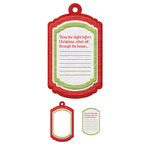 We R Memory Keepers - Yuletide Collection - Christmas - Embossed Tags - Mini Frames - Journal