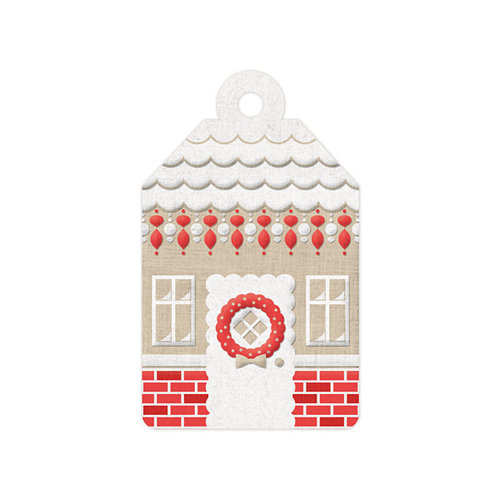 We R Memory Keepers - Yuletide Collection - Christmas - Embossed Tags - Gingerbread House