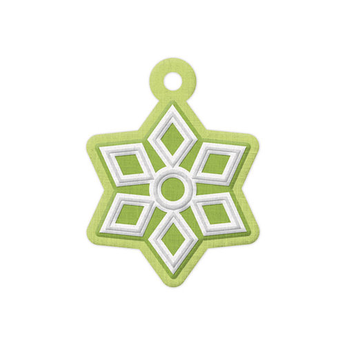 We R Memory Keepers - Yuletide Collection - Christmas - Embossed Tags - Snowflake
