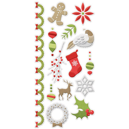 We R Memory Keepers - Yuletide Collection - Christmas - Embossed Cardstock Stickers
