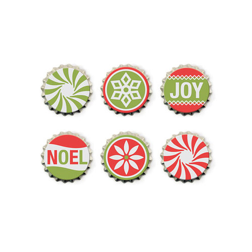 We R Memory Keepers - Yuletide Collection - Christmas - Bottle Caps