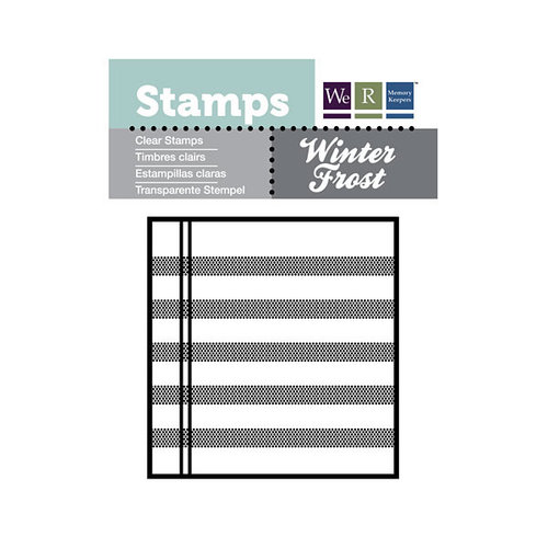 We R Memory Keepers - Winter Frost Collection - Clear Acrylic Stamps - Journal Block