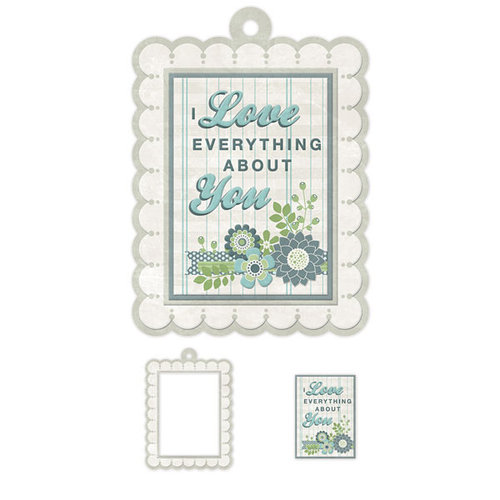We R Memory Keepers - Winter Frost Collection - Embossed Tags - Mini Frames - Love