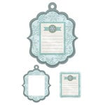 We R Memory Keepers - Winter Frost Collection - Embossed Tags - Mini Frames - Winter Notes