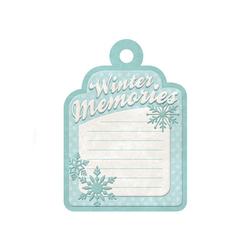 We R Memory Keepers - Winter Frost Collection - Embossed Tags - Winter Memories