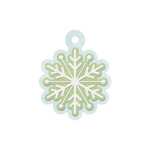 We R Memory Keepers - Winter Frost Collection - Embossed Tags - Snowflake