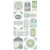 We R Memory Keepers - Winter Frost Collection - Self Adhesive Layered Chipboard - Tags