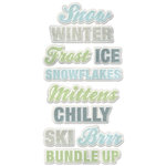 We R Memory Keepers - Winter Frost Collection - Self Adhesive Layered Chipboard - Words