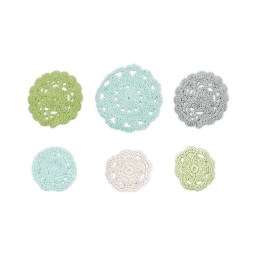 We R Memory Keepers - Winter Frost Collection - Crochet Doilies