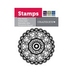 We R Memory Keepers - Crazy For You Collection - Clear Acrylic Stamps - Round Doily