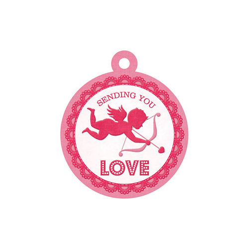 We R Memory Keepers - Crazy For You Collection - Embossed Tags - Sending Love